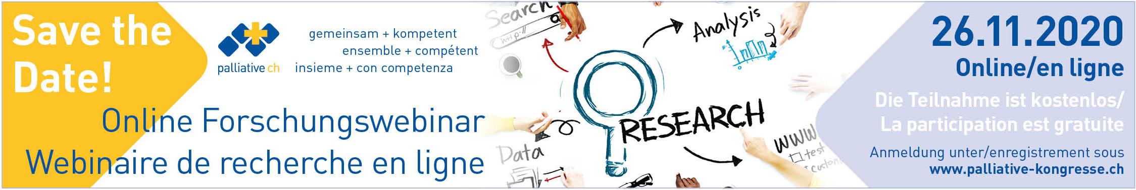 palliative ch: Online Forschungswebinar