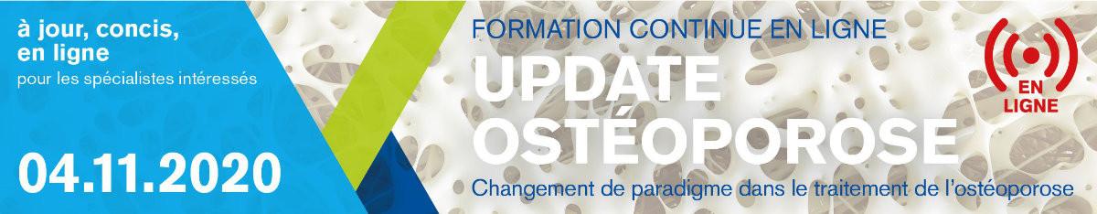 FORMATION CONTINUE UPDATE OSTÉOPOROSE
